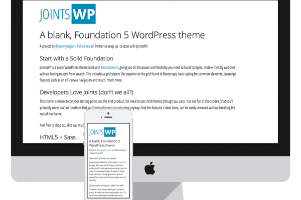 JointsWP : A Blank, Foundation 5 WordPress Theme