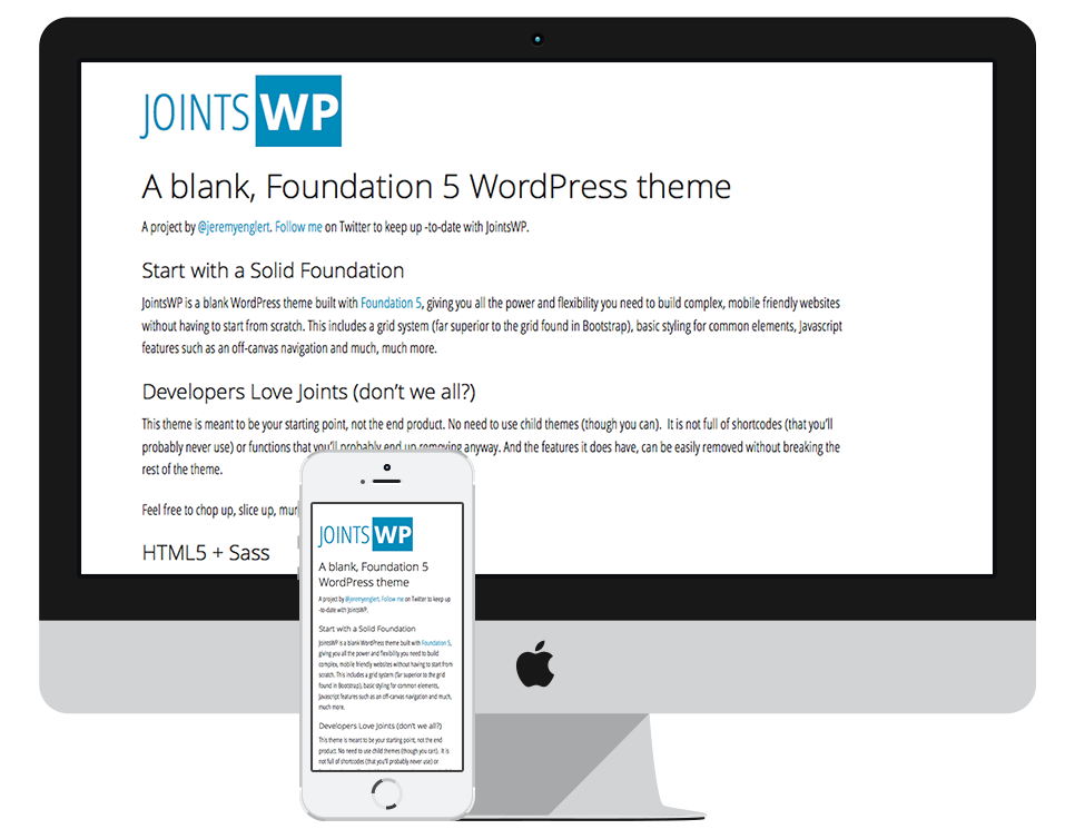 JointsWP : A blank, Foundation 5 WordPress theme - Elite Venture Media